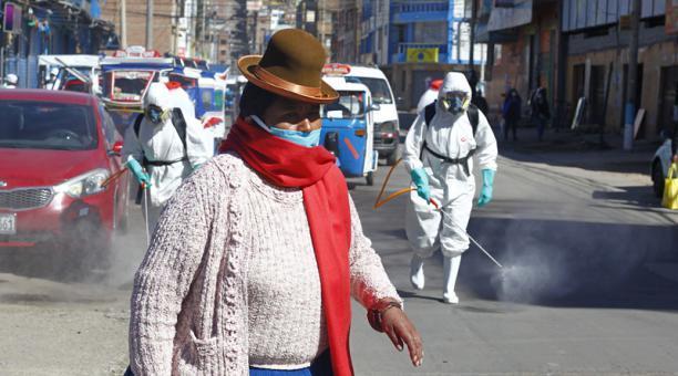 El presidente de Perú dice que hay ''una luz al final del túnel'' por el descenso de los contagios