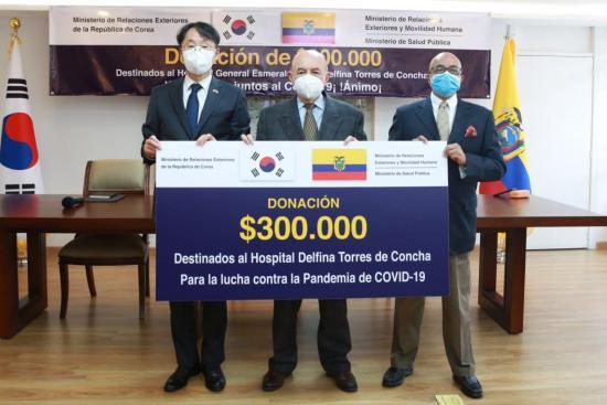 Corea del Sur dona 300.000 dólares a hospital de Esmeraldas