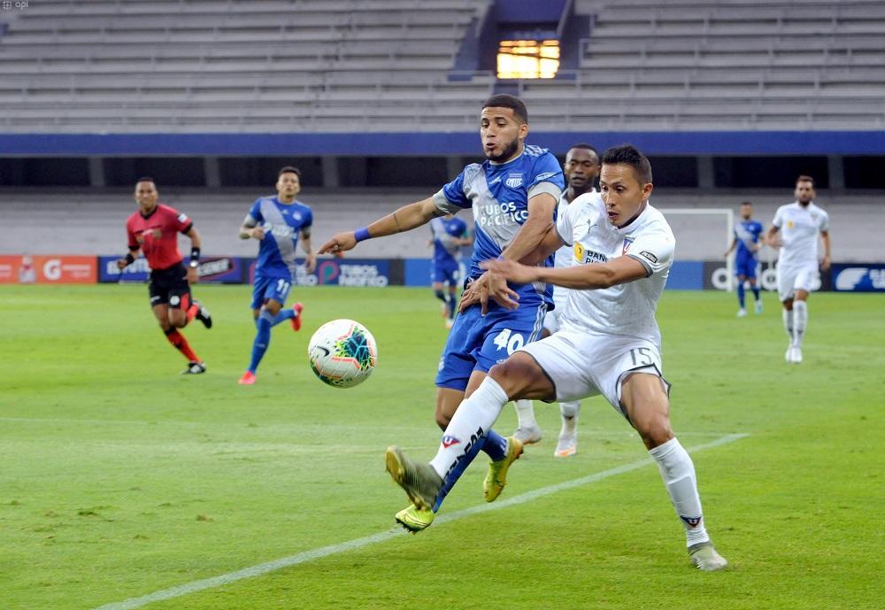 Emelec y Liga de Quito empatan 1-1 en el estadio Capwell