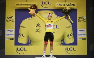 Tadej Pogacar ganó la crono y es el virtual campeón del Tour de Francia