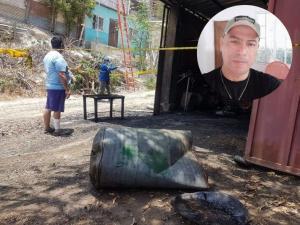 Dueño de taller no resistió las quemaduras y murió