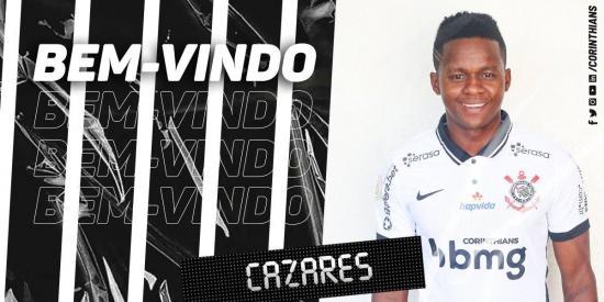 El futbolista ecuatoriano Juan Cazares firma contrato con Corinthians hasta junio de 2021  y lucirá el 10