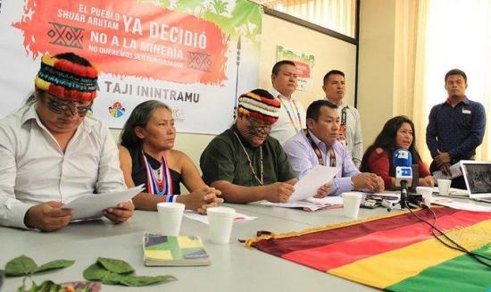 Indígenas amazónicos de Ecuador rechazan actividades mineras en su territorio