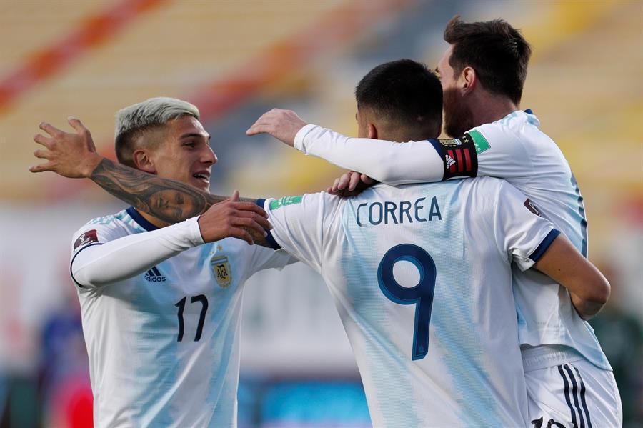 Argentina le da la vuelta al marcador y vence por 2-1 a Bolivia