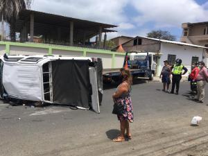 Choque en el centro de Manta deja seis heridos