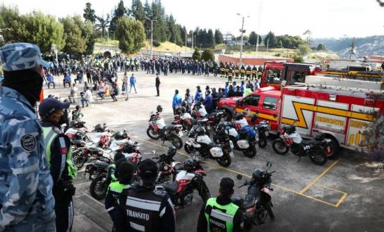 El Municipio de Quito despliega su fuerza policial durante las protestas