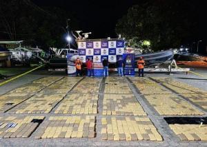 Incautan en Colombia semisumergible con más de dos toneladas de cocaína