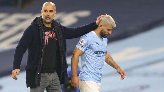 El Manchester City perderá a Sergio Agüero durante un mes