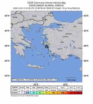 Un pequeño tsunami inunda una ciudad costera turca tras terremoto en el Egeo