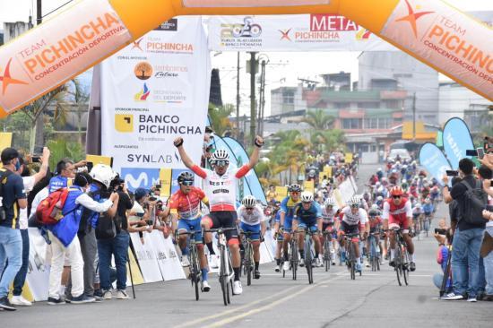 Byron Guamá gana la segunda etapa de la Vuelta a Ecuador