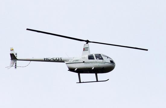Esperan repuesto para que helicóptero del Gobierno Provincial de Manabí funcione