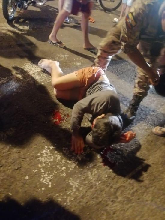 El Carmen: Choque entre motos deja a dos personas heridas