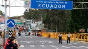 El Gabinete de seguridad recomienda abrir las fronteras de Ecuador a fines de enero