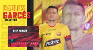 Barcelona anuncia ocho refuerzos, entre ellos el manabita Carlos Garcés
