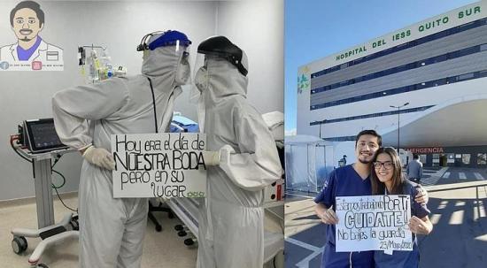 Médico que aplazó su boda por atender a pacientes con covid-19 está en UCI