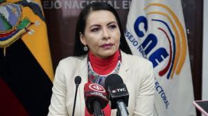 Presidenta del CNE, a favor del recuento voto a voto solicitado por Yaku Pérez