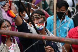 Quito se refuerza para la marcha indígena que pide el recuento de votos