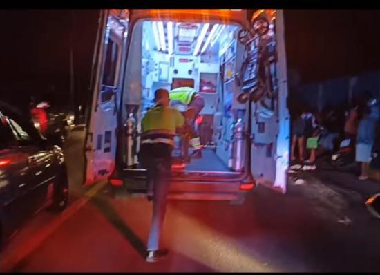 PORTOVIEJO: Dos personas quedan heridas tras accidente en la avenida 5 de Junio