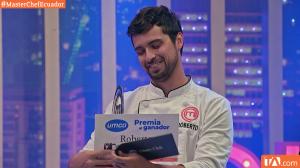 Roberto Ayala es el ganador de la segunda temporada de Master Chef Ecuador