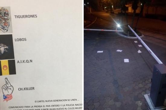 Pasquines con amenazas son arrojados en medios de comunicación de Guayaquil
