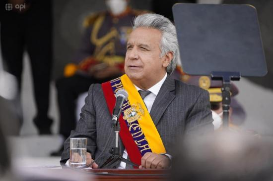 Presidente Lenín Moreno asegura que su familia no ha recibido la vacuna contra Covid-19
