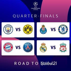 Así quedaron los cruces de cuartos de la Champions League